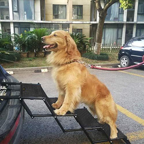 Snagle Paw Haustier Hund Auto Schritt Treppe, Akkordeon Falten Haustier Rampe,leichte tragbare Auto große Hundeleiter, ideal für Autos, LKW und SUVs Cargo, Couch und High Bed, 4 Schritte