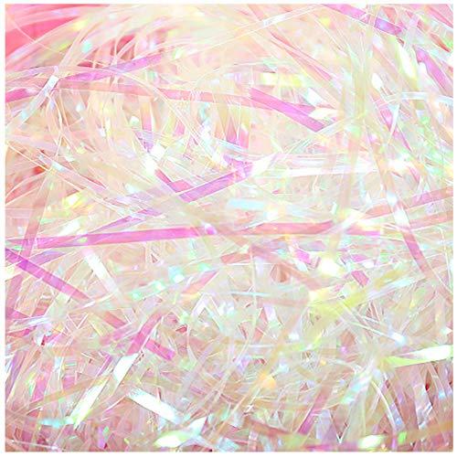 200 gramos Relleno de papel triturado Papel de Seda triturado Relleno de regalo papel triturado para cestas de regalo papel de envolver triturado papel de seda cestas trituradas (A)