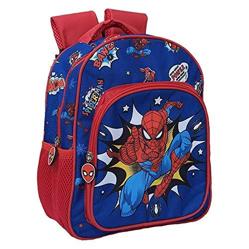 M.C. srl Zaino Asilo Spiderman Marvel Uomo Ragno Tasca Frontale Scuola Bambino CM.30 - SP0631