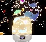 Projecteur de veilleuse avec Bluetooth, projecteur de lumière étoile rotative, haut-parleur Bluetooth avec...