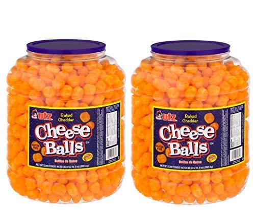Product of Utz Cheese Ball Barrels 35 oz. (2 pk.) - Chips [Bulk Savings] - PACK OF 2