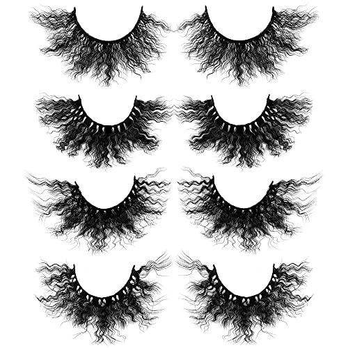 False Eyelashes Dramatic Thick 4 Pairs Fake Lashes 4 Styles Marco Polo Eye Lashes Pack by Yawamica