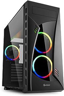 Sharkoon NIGHT SHARK RGB - Caja de Ordenador, PC Gaming, Semitorre ATX, Negro