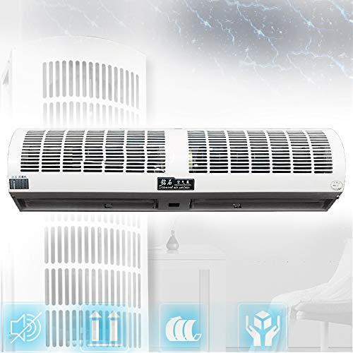 Gxing Cortina De Aire Interior Super Thin Alloy Case Ventilador De Pared, Alto Volumen De Aire, para Puertas Y Ventanas Anti-Moscas, Fácil De Instalar