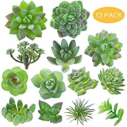 Fake Succulent, Artificial Succulents, Faux Succulents, Artificial Succulents Plants, Fake Succulent Unpotted, Bulk Artificial Succulents for Birthday Home Decor Indoor Wall Garden DIY, Pack of 13Pcs