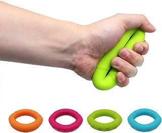 リング型ハンドグリップ ハンドエクササイズリング 握力トレーニング 無臭 リハビリ 硬さ4種類