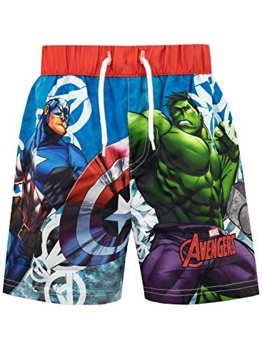 Marvel Costume da Bagno per Ragazzi a Due Pezzi Avengers Multicolore 5-6 Anni