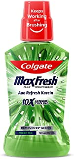 Colgate Plax Antibacterial Mouthwash, 24/7 Fresh Breath with Natural tea extracts - 500ml, (Fresh Tea)