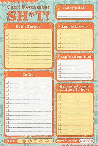 Can't Remember Sh*t Daily Planner and Note Pad