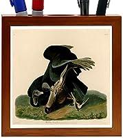Rikki Knight Audubon Art Black Vulture Plate 106 Design 5-Inch Wooden Tile Pen Holder (RK-PH3666) [並行輸入品]