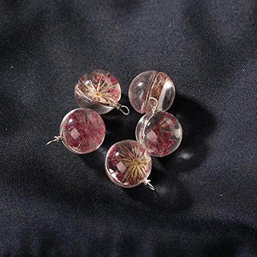 DOOLY Cuerda de Cristal de Flores a Mano No cristalino para Pendientes de Bricolaje Pulsera Chócola Collar Joyería Haciendo Cuentas