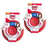 Kong Rubber Flyer, 2-Pack Small, Red