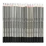 Matite da Disegno,24 pezzi Sketch Art Graphite Drawing Pencil Matite colorate non tossiche Vernice 9H-14B per schizzo, pittura, disegno, ecc