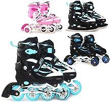 SportVida Inlineskates, 4-in-1 inlineskates, tri-skates, ijsschaatsen en rolschaatsen, verstelbare maat, voor kinderen...