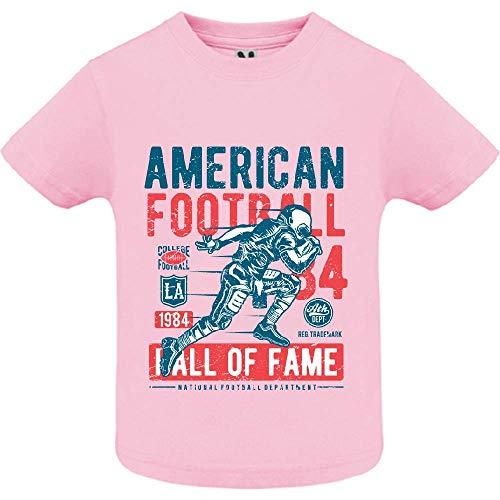 LookMyKase T-Shirt - American Football - Bébé Fille - Rose - 6mois