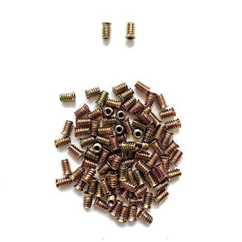 LIKERAINY 150Pcs Tuercas Hexagonales de Hierro Galvanizado M6x17mm Tuerca Insertables Roscadas para Muebles de Madera Insertos Ciegos Tuerca Tuercas de Fijación