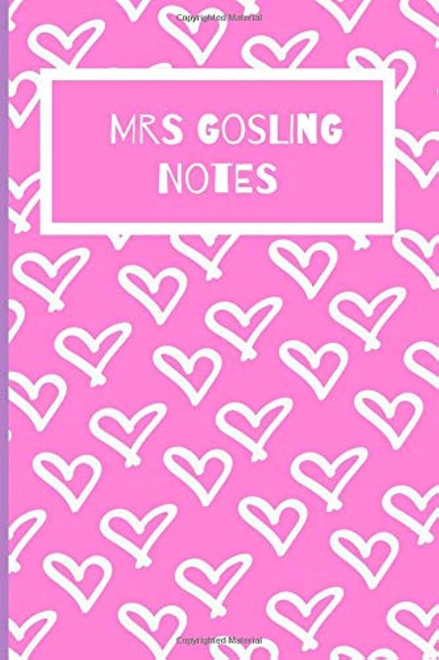 記念寝室を掃除するかわいらしいMrs Gosling Notes: Ryan Gosling Fan Novelty Notebook / Journal / Gift / Diary 120 Lined Pages (6