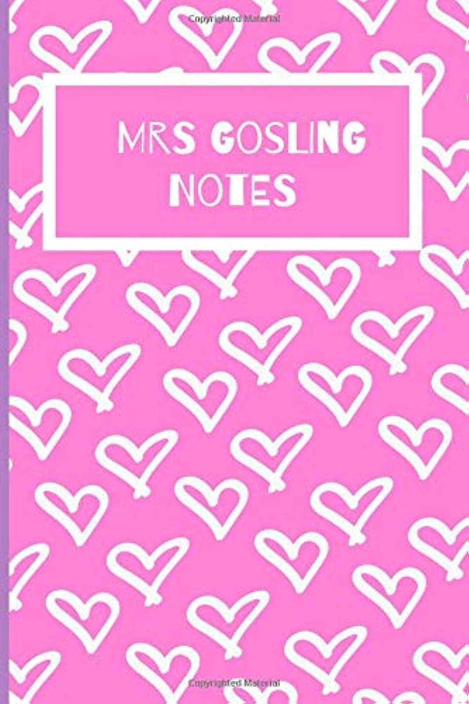 言語学マーキー感嘆Mrs Gosling Notes: Ryan Gosling Fan Novelty Notebook / Journal / Gift / Diary 120 Lined Pages (6