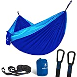 pys Double Portable Camping Hammock with Straps Outdoor -Nylon...