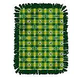No-Sew Football Fleece Blanket - Football Team Fleece Throw- All Teams Stadium Blanket, Double Sided Blanket, Tie Blankets, Sports Blanket, Lap Blanket (72x44 - Packers)