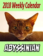 2018 Weekly Calendar Abyssinian: Cat Jokes, Cat Puns, Notes, To Do List, Mazes,