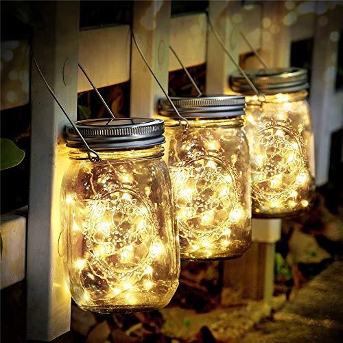 Kjdm-Luces solares exteriores de 3 piezas de jardín solar, 30 ledes, impermeables, al agua, para decoración de la iluminación interior, exterior, decoración de Navidad