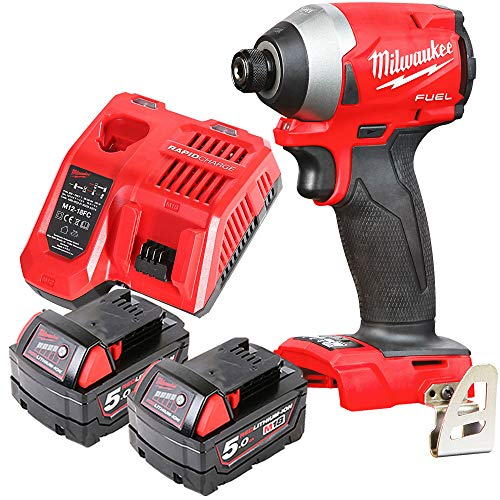 Milwaukee M18FID2 18v M18 Fuel Impact Driver with 2 x 5Ah Batteries & Charger