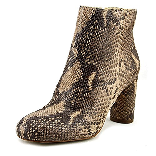 INC International Concepts Womens Taytee Leather Closed Toe Ankle Fashion Boots Snake Tan Size 9.5 M US