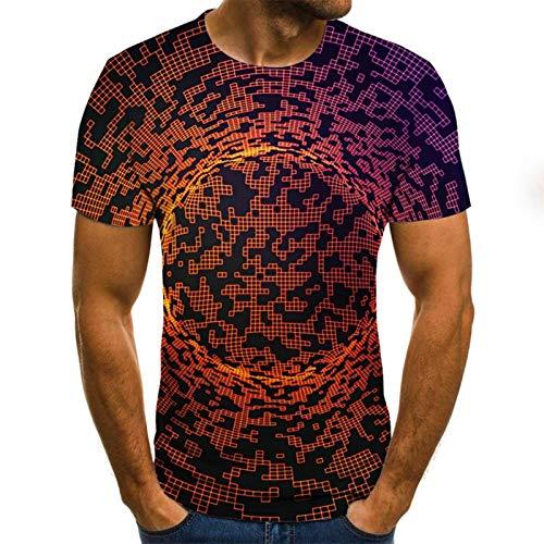 SSBZYES Herren T-Shirts Herren Plus Size T-Shirts Herren Kurzarm Tops Herren Persönlichkeit Gedrucktes T-Shirt Pullover Große T-Shirts Mode 3D-Druck T-Shirts