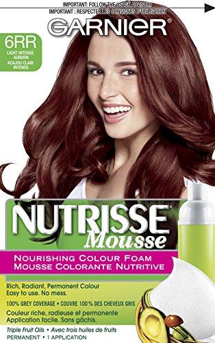 Garnier Nutrisse Nourishing Color Foam, Light Intense Auburn