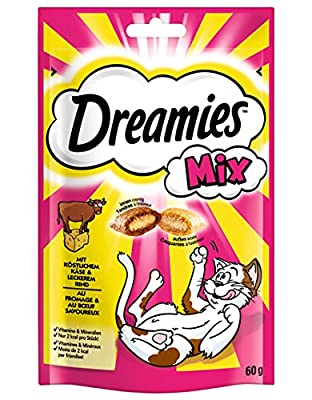 Dreamies Mix Cat Treats with Cheese & Beef, 60g