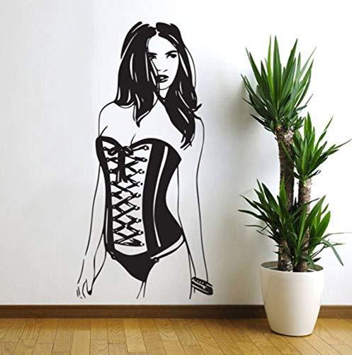 HNXDP Wandaufkleber Mode Sexy Frauen Wandbilder Vinyl Pin Up Girl Wandtattoo Home Decoration Kunst Schlafzimmer Selbstklebende Tapete FS06 57x116cm