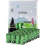 Pätsworld Bolsas para excrementos de perros, biodegradables, 360 bolsas antigoteo sin perfume, extragruesas y resistentes, sin dispensador de bolsas de excrementos (24 rollos = 360 rollos)