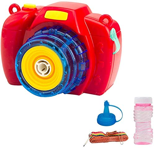 Zhangl Bubble Machine For Children Music Camera Bubble Toys Automatic Bubble Blower Machine For Kids Gifts Summer Swimming Pool Beach Garden Outdoor Games (Color : Red)