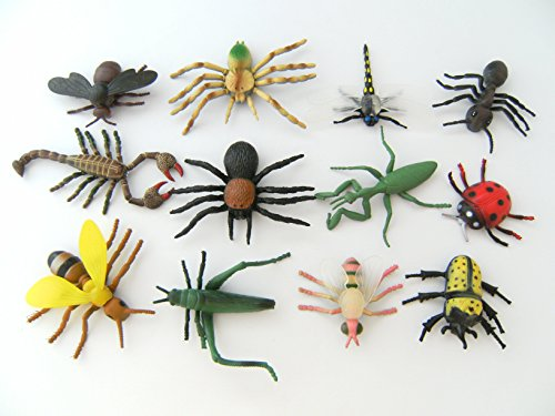 Insekten Käfer Marienkäfer Skorpion Spinne 12erSet ca. 8cm Biene Ameise Mücke Libelle