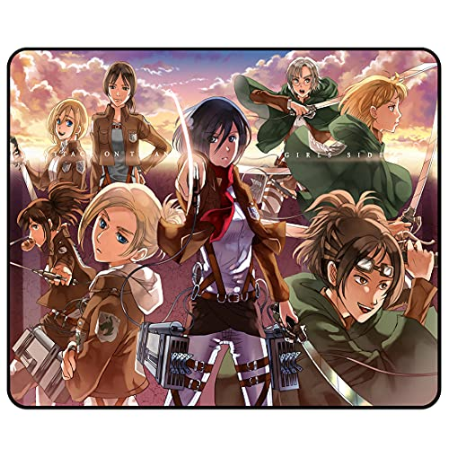 Anime Mouse Pad - Japanese Anime Game Cool Non-Slip Mouse Mat Personalized Desk Pad with Stitched Edges Desk Mat for Office,Computer 11.81x9.84x0.12 Inch