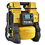 Tichop Portable Cordless Air Compressor, DC Power Air Compressor Compatible with 18V Makita/Dewalt/Milwaukee Li-ion Battery,Oil free,Quiet Air Pump(Tool Only)