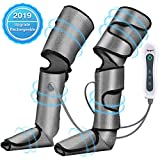 Foot and Leg Massager for Circulation and Relaxation, Rechargable Leg Massagers for Foot Calf and Leg with Hand-held Controller 2 Modes 3 Intensities, Best Gifts for Men/Women/Mother/Father/Family