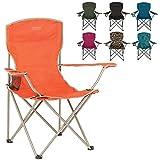 Highlander Folding Camp Chair ― Lightweight & Durable Outdoor Seat ― Perfect for Camping, Festivals, Garden, Caravan Trips, Fishing, Beach, BBQs (Orange)