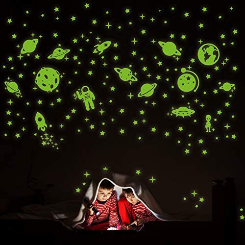 260 PCS Glow in The Dark Stars Glowing Stars for Ceiling Star Wall Decals Solar System Space product image