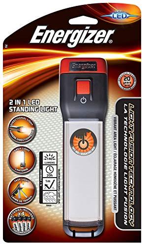 Energizer Taschenlampe 2 in 1 LED Standing Light (inkl. 4x AA-Batterien, 140 Lumen, wetterfest (IPX4))