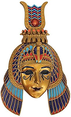 d2246b301 Design Toscano Mask of Egyptian Royalty Queen of the Nile Wall Sculpture,  Single