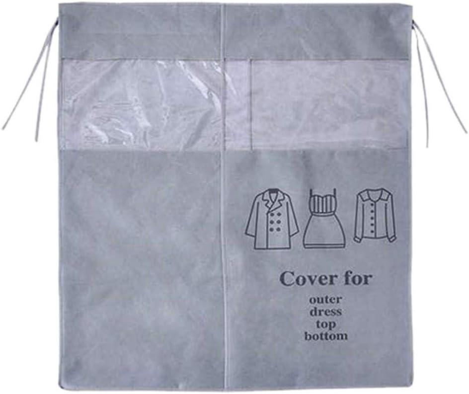 Housse de Protection Anti-poussi/ère pour v/êtements Garde-Robe penderie /étag/ère de Rangement Transparente Non tiss/ée Taille Unique