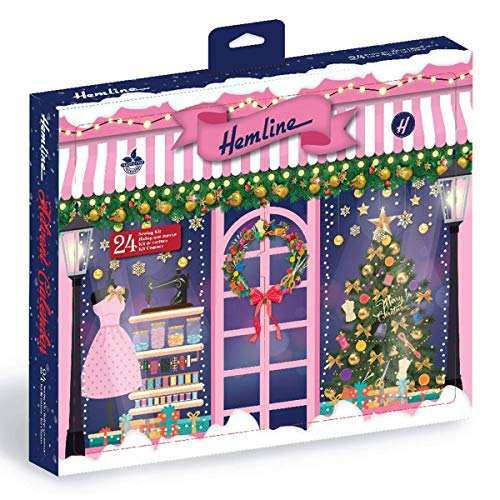 Hemline Accessori da Cucito Calendario dell'Avvento, Natale Tradizionale 2020, 195x220x130