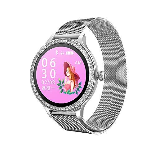 DHTOMC Reloj inteligente de las mujeres de la actividad del tracker multi-deporte modo pulsera de la aptitud de la pulsera-plata+