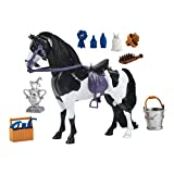 Painted Horse with Moveable Head, Realistic Sound and 14 Grooming Accessories - Blue Ribbon Champions Deluxe Toy Horses