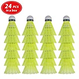 HIRALIY 24 Pack Nylon Badminton Shuttlecocks Birdies, Baseball/Softball Batting Training High Speed Badminton Balls with Stable & Durable, Ideal Hitting Practice for Youth Players Indoor and Outdoor shuttlecocks Dec, 2020