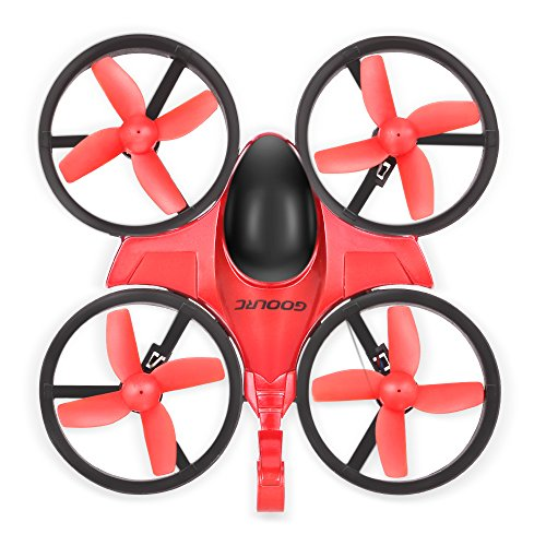 Mini RC Quadcopter - GoolRC T36 Drone 2.4G 4 Channel 6 Axis With 3D Flip Headless Mode One Key Return Nano Copters RTF Mode 2 With Bonus Battery for Kids Children Father's Day's Gift