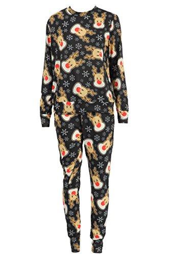 Momo&Ayat Fashions Dames Kerstrendier Santa Loungewear pak UK Maat 8-16