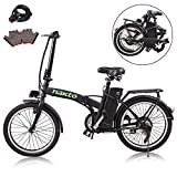 nakto 20'/26' 250W Foldaway/City Electric Bike Assisted Electric Bicycle Sport Mountain Bicycle with 36V10A Removable Lithium Battery